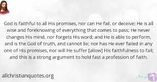 john gill quote about god faithful suffers promises all