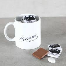 Öğretmenler Günü Hediyesi İmzalı Kupada Madlen Çikolata + Draje Öğretmenler  Günü Hediyesi, Öğretmene Hediye Hacı Şerif