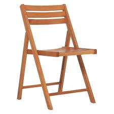 zeno solid oak folding garden chair