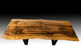 Oregon Myrtle Wood Live Edge Coffee Table With Stone Inlay by Natural Wood  Edge Creations by Rick Griggs seen at Private Residence, Chicago | Wescover