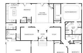 bedroom single story house plans open