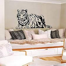 Amazon Com Tiger Wall Decals Vinyl Decal Wild Cat Animal Home Art Decor Removable Stylish Sticker Mural Unique Design For Any Room Fast Shipping Tk7 Kitchen Dining