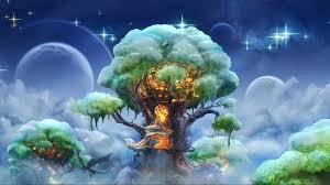 fantasy tree art magic full hd