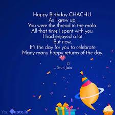 happy birthday chachu as quotes writings by stuti jain