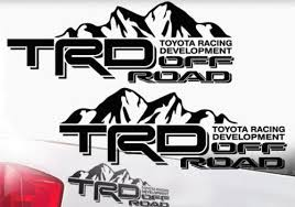 Product Toyota Trd Truck Mountain Off Road 4x4 Racing Pair Decals Tacoma Tundra Vinyl 2
