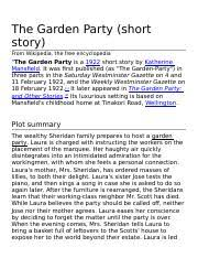 the garden party short story from