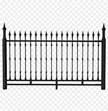Download Transparent Black Iron Fence Clipart Png Photo Toppng