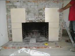 install tile over brick fireplace
