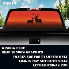 Sunset Deer Rear Window Decal Hunting Decal Sunset Decal Etsy