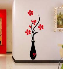 Multicolor Wall Sticker Flower Pot Decal Style Wall Stickers Size Dimension 58 Cm X28 Cm Pack Size 27x4x4 Cm Rs 120 Piece Id 20616868591