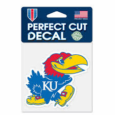 Ncaa Perfect Cut Multi Use Decal Team Color Kansas Jayhawks Campus Colors