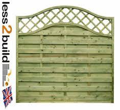 Arched Trellis Continental Fence Panel Omega 33 6ft Wide X 3ft 4ft 5ft 6ft H Ebay
