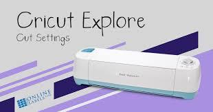 Online Labels Sticker Paper Cut Settings For Cricut Explore Air