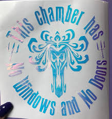 Disney Haunted Mansion Chamber Holo Lap Top Car Decal Etsy