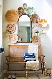 how to create a woven basket wall