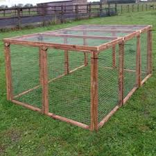 Chicken Run 13 Wood Panels With 1 X 1 Galvanised 19g Wire Mesh