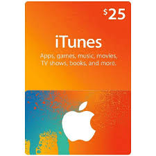 itunes gift card 25 us instant