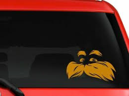 Lorax Dr Seuss Children Story Book Character Car Truck Decal Sticker 6 Orange Ebay