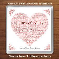 ruby 40th wedding anniversary gift