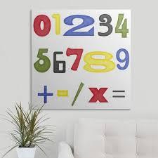 Great Big Canvas Kid S Room Numbers Megan Meagher Textual Art Wayfair