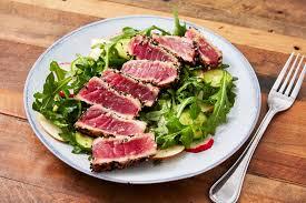 Seared Ahi Tuna Recipe - How to Make Ahi Tuna Steak With Arugula Salad