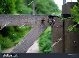 Pulley Garden Entrance Gate Vintage Stock Image 686511076