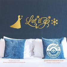 Let It Go Frozen Inspired Disney Quote Wall Vinyl Decal Laptop Decal Macbook Decal Stairs Decal Decals Jessichu Creations