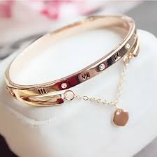 luxury rose gold snless steel
