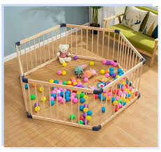 Free Shipping Indoor Solid Wood Children S Fence Folding Baby Crawl Playpens Activity Baby Wood Safety Fence Playpen With Door Baby Playpens Aliexpress