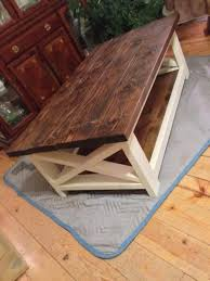 rustic coffee table success do it