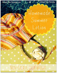 non greasy homemade lotion recipe