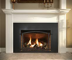 wood burning fireplace to gas insert