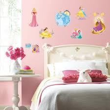 Princess Friendship Adventures Wall Decals 25 Disney Stickers Cinderella Ariel Rapunzel Belle Room Decor Walmart Com Walmart Com