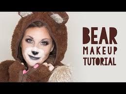cute bear makeup tutorial for halloween