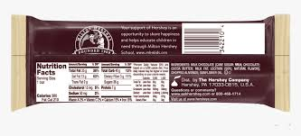 bar nutrition facts hd png