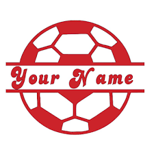 Soccer Ball With Name Decal For Tumblers Cups Cars Computers Cell Phones Ebay