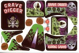 Grave Digger Decals Monster Trucks Digger Valentines Monster Truck Cake