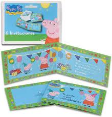 Peppa Pig 68636 Pack 6 Invitaciones Invitaciones Para Fiestas Y