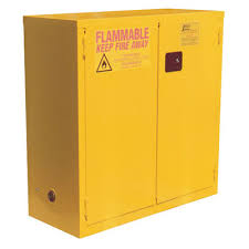 manual close flammable liquid storage
