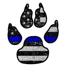 Police K9 Paw Thin Blue Line Flag Sticker Car Truck Vinyl Decal Bumper Owntheavenue