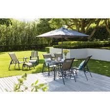 andorra metal 6 seater garden furniture