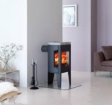 small wood burning fireplace modern