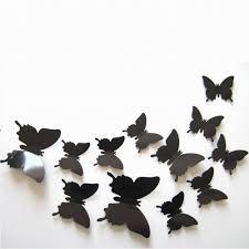Grc Tm 3d Black Butterfly Wall Decor Ho Buy Online In Vietnam At Desertcart