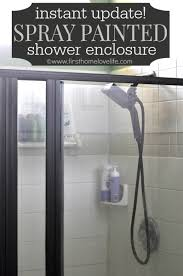 spray painted shower surround first