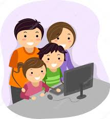 Family Computer — Stock Photo © lenmdp #46205443