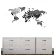 Large World Map Decal For Kids Playroom