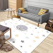 Amazon Com Jacrane Outdoor Area Rug 5x7 Area Rug Soft Area Rug Nursery Kids Poster Cute Little Stars Moon In Scandinavian Large Area Rug Farmhouse Area Area Rugs For Living Room Cozy Area