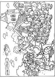 Sinterklaasintocht In De Stad Sinterklaas Kleurplaten