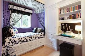 Amazing Black White Bedroom Decor Ideas With Black Valance And Purple Throw Pillow