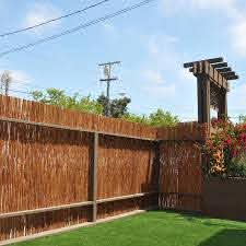 Cali Bamboo Actual 8 Ft X 6 Ft Bamboo Fencing Carbonized Bamboo Privacy Rolled Fencing In The Rolled Fencing Department At Lowes Com